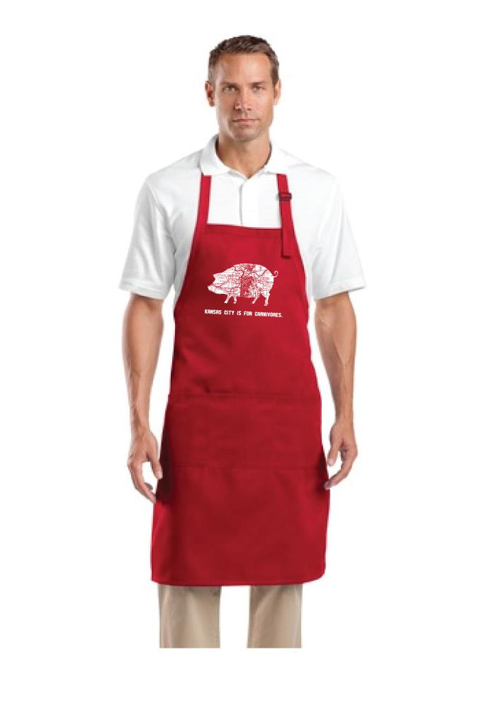 Kansas City KC Is For Carnivores BBQ Apron - Image 3