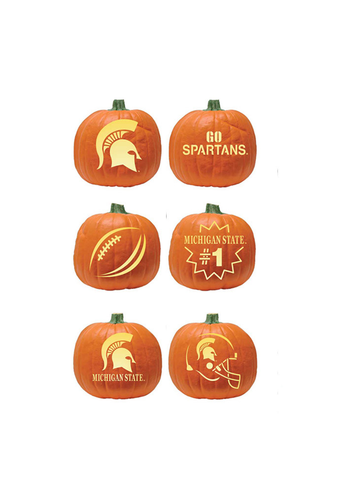 Michigan state spartans carving kit pumpkin