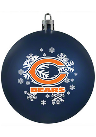 chicago bears shatterproof ornament - Chicago Christmas Ornaments