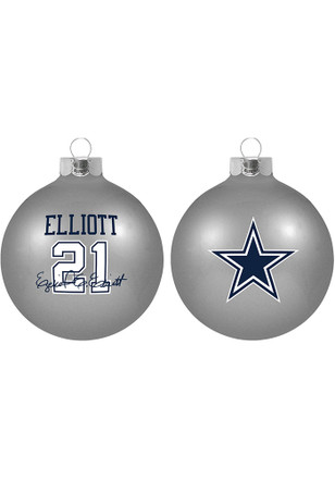 dallas cowboys player glass ball ornament