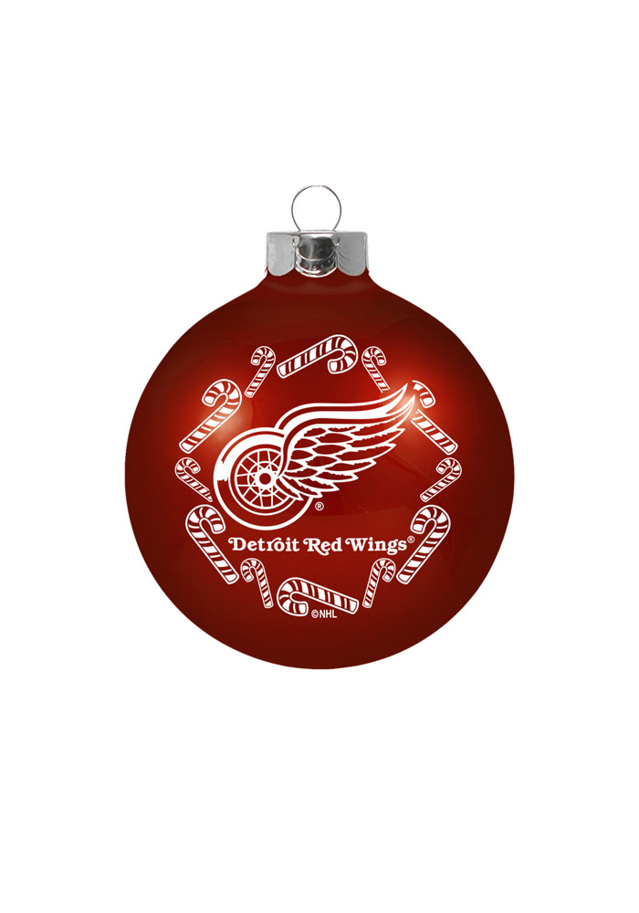 Detroit Red Wings Traditional Glass Ball Ornament - Image 1