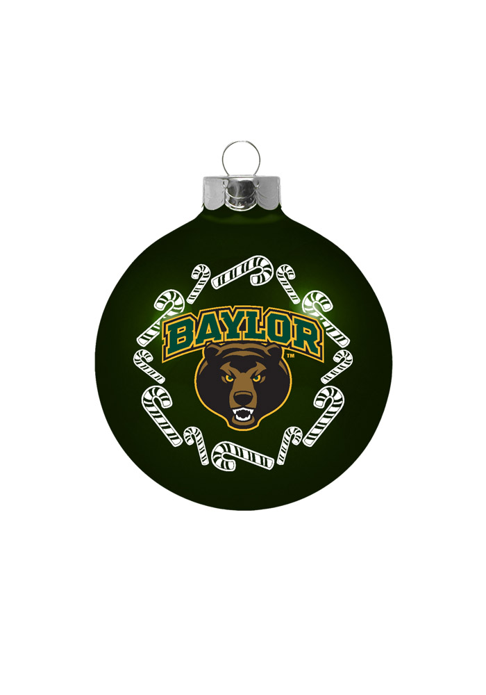 Baylor Bears Traditional Glass Ball Ornament - Image 1