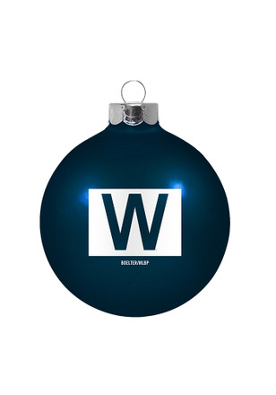 Chicago Cubs W Glass Ball Ornament