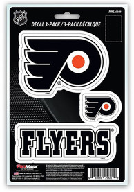 Sports Licensing Solutions Philadelphia Flyers 3 Pack Team Logo Auto Decal - Black