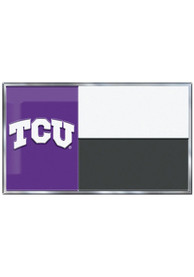 Sports Licensing Solutions TCU Horned Frogs Aluminum Car Emblem - Purple