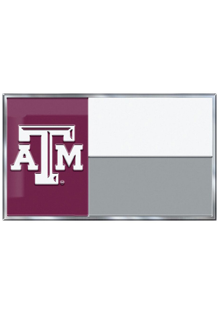 Sports Licensing Solutions Texas A&M Aggies Aluminum Car Emblem - Maroon - Image 1