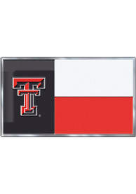 Sports Licensing Solutions Texas Tech Red Raiders Aluminum Car Emblem - Red