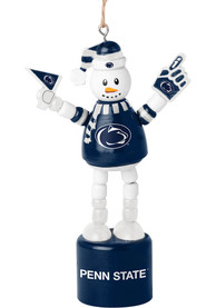 Penn State Nittany Lions Push Puppet Snowman Ornament