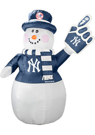 New York Yankees White Outdoor Inflatable 7 Ft Snowman