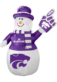 K-State Wildcats White Outdoor Inflatable 7 Ft Snowman