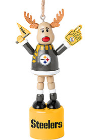 Pittsburgh Steelers Push Puppet Reindeer Ornament