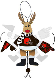 Cleveland Browns Cheering Reindeer Ornament