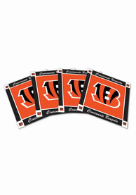 Cincinnati Bengals 4pk Orange Neoprene Coaster