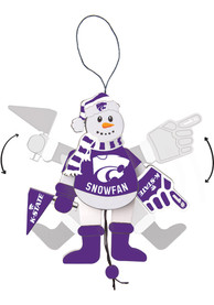 K-State Wildcats Cheering Snowman Ornament