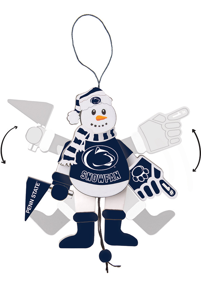 Penn State Nittany Lions Cheering Snowman Ornament - Image 1