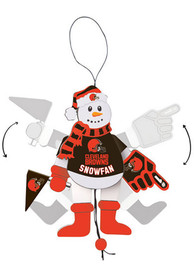 Cleveland Browns Cheering Snowman Ornament