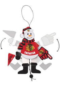 Chicago Blackhawks Cheering Snowman Ornament