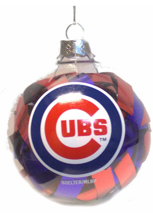 Chicago Cubs Tinsel Ball Ornament