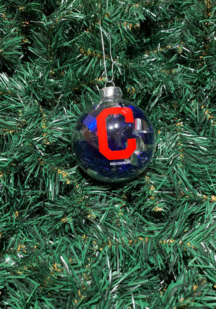 Cleveland Indians Tinsel Ball Ornament - Image 2
