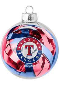 Texas Rangers Tinsel Ball Ornament