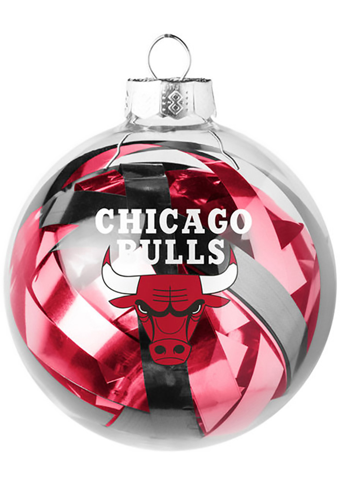 Chicago Bulls Tinsel Ball Ornament - Image 1