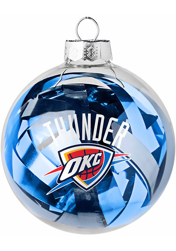 Oklahoma City Thunder Tinsel Ball Ornament - Image 1