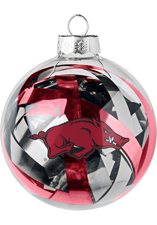 Arkansas Razorbacks Tinsel Ball Ornament