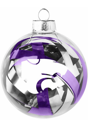 K-State Wildcats Tinsel Ball Ornament