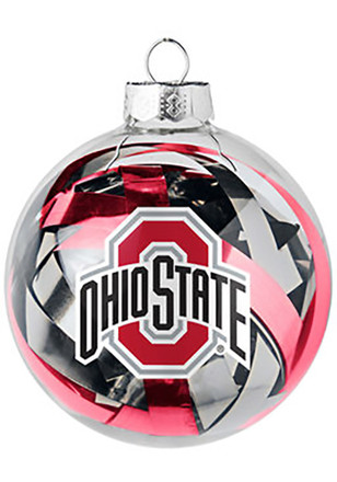 Ohio State Buckeyes Tinsel Ball Ornament