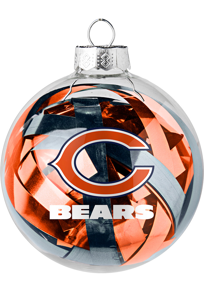 Chicago Bears Tinsel Ball Ornament - Image 1