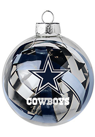 dallas cowboys tinsel ball ornament