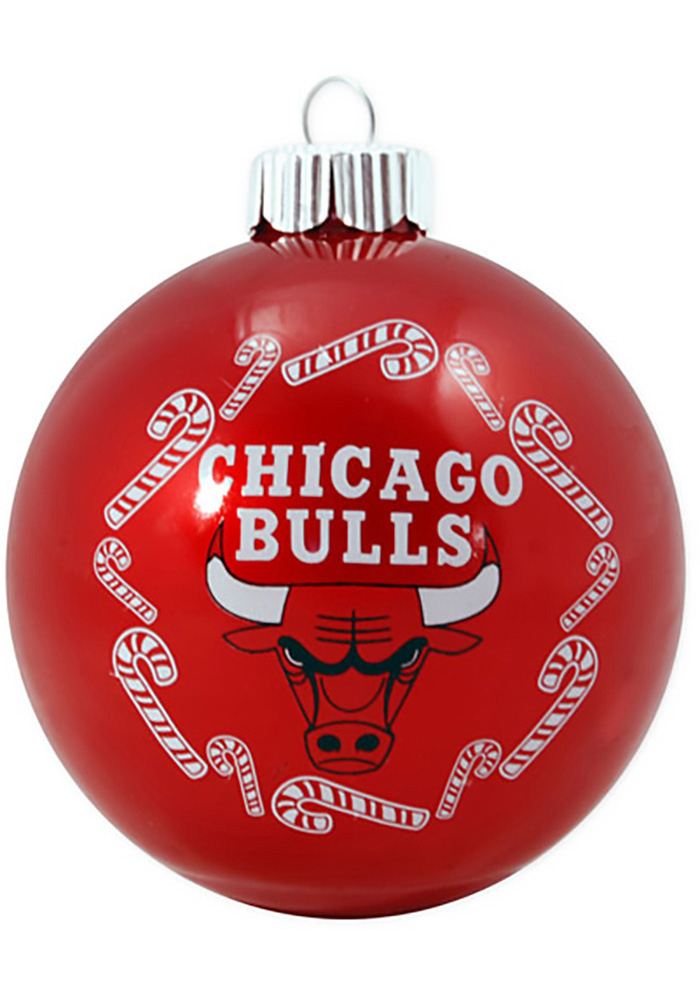 Chicago Bulls Traditional Glass Ball Ornament - Image 1