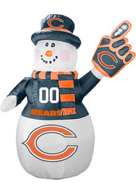 Chicago Bears White Outdoor Inflatable 7 Ft Snowman