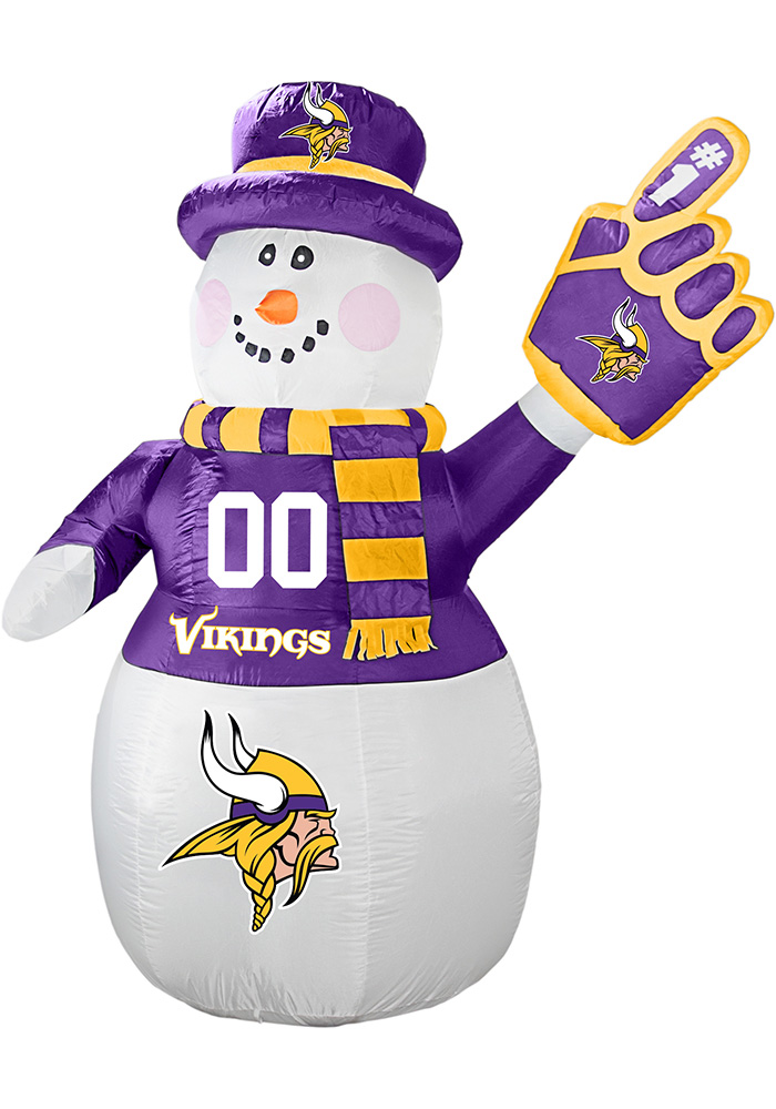 Minnesota Vikings White Outdoor Inflatable 7 Ft Snowman - Image 1