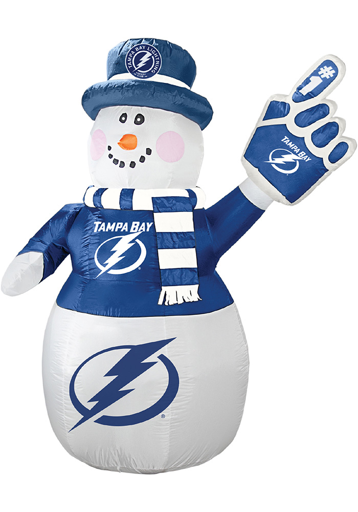 Tampa Bay Lightning White Outdoor Inflatable 7 Ft Snowman - Image 1