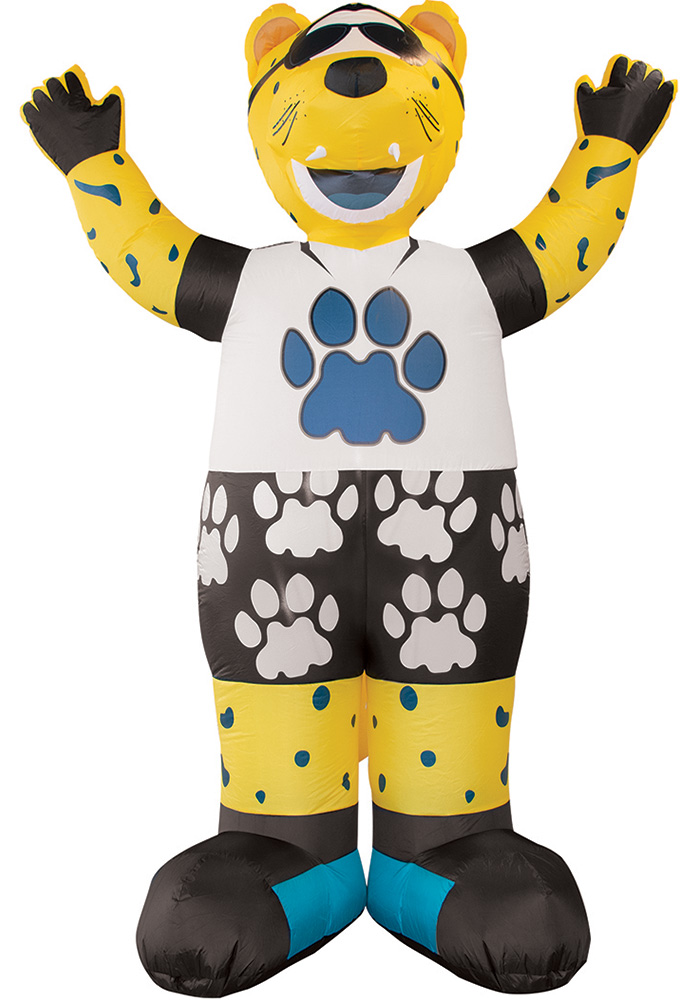 Jacksonville Jaguars Yellow Outdoor Inflatable 7 Ft Team Mascot - Image 1