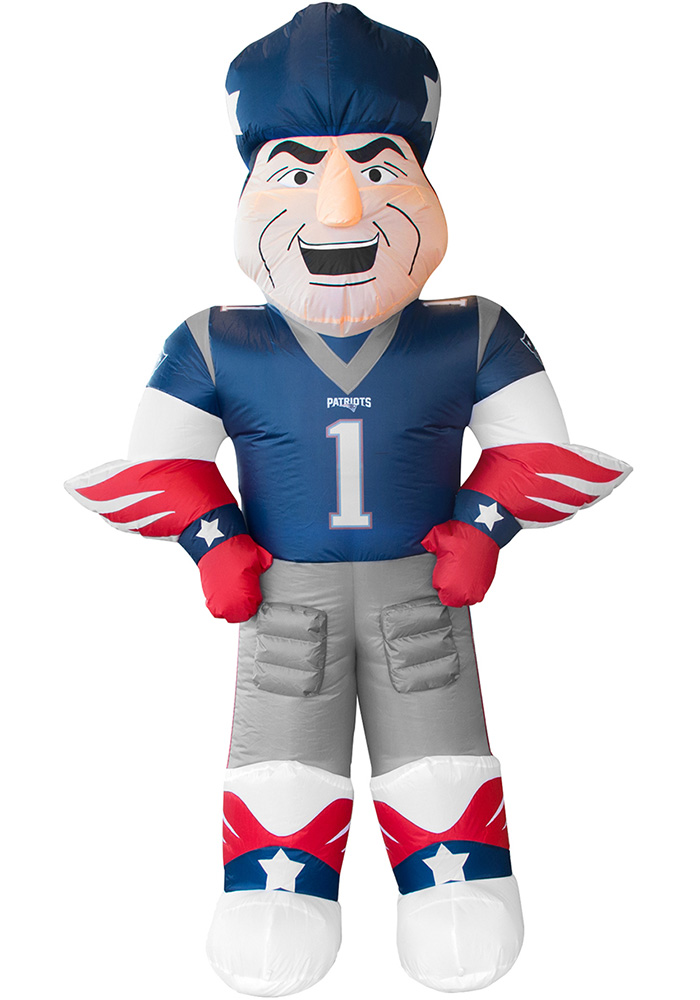 New England Patriots Navy Blue Outdoor Inflatable 7 Ft Team Mascot - Image 1