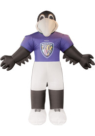 Baltimore Ravens Black Outdoor Inflatable 7 Ft Team Mascot