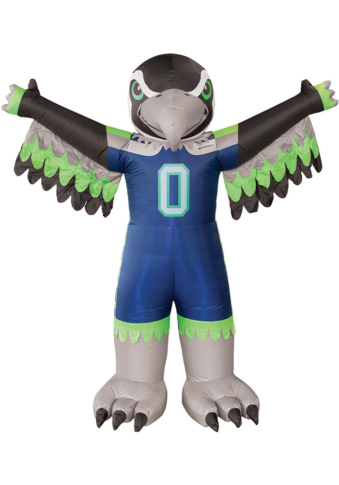 Seattle Seahawks Blue Outdoor Inflatable 7 Ft Team Mascot - Image 1