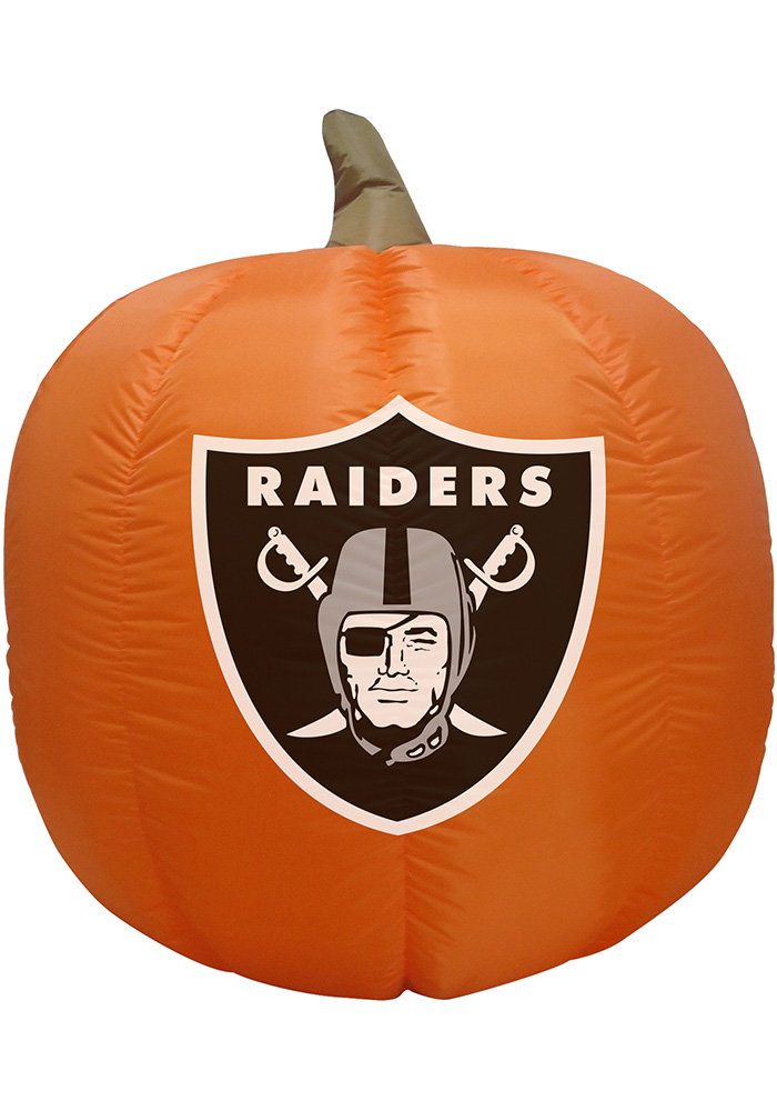 Oakland Raiders Orange Outdoor Inflatable Team Logo Pumpkin - Image 1