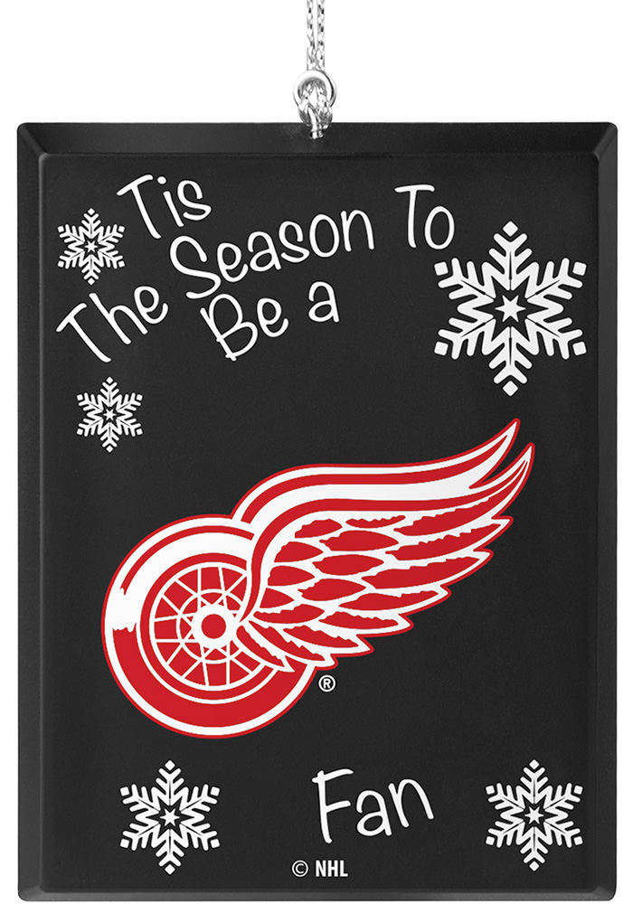 Detroit Red Wings Tis the Season Ornament - Image 1