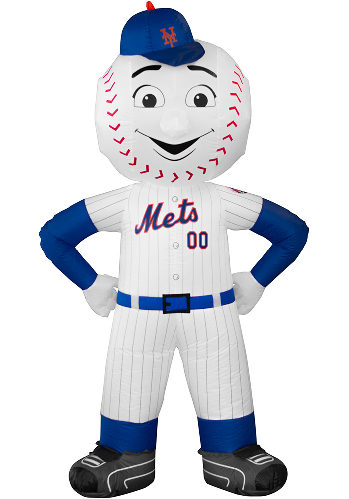 New York Mets White Outdoor Inflatable 7 Ft Team Mascot - Image 1