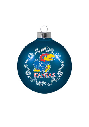 Kansas Jayhawks Traditional Glass Ball Ornament