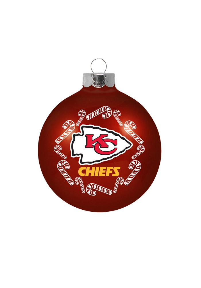 Kansas City Chiefs Traditional Glass Ball Ornament - Image 1