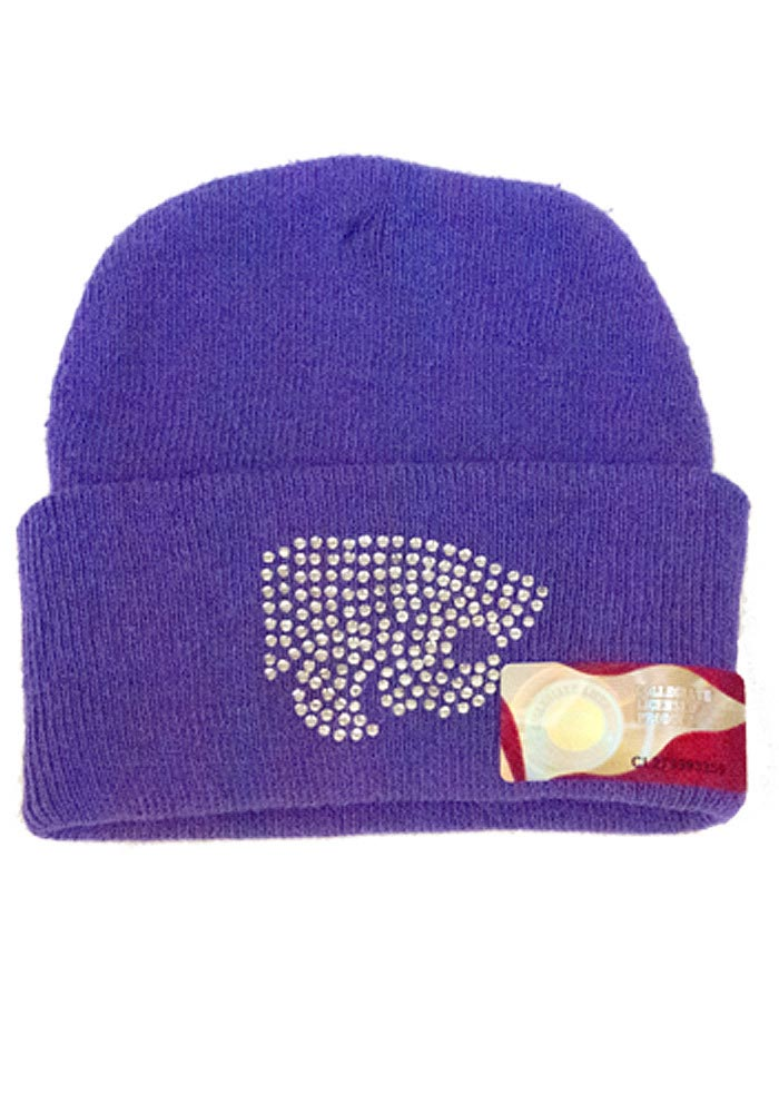 K-State Wildcats Purple Infant Stone Newborn Knit Hat - Image 1
