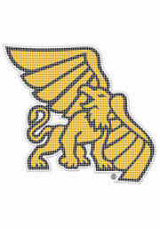 Missouri Western Griffons 8x8 Perforated Auto Decal - Yellow