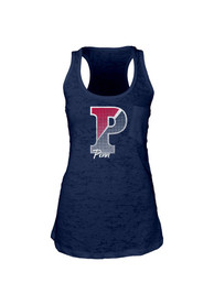 Pennsylvania Quakers Juniors Navy Blue Pocket Burn Tank Top