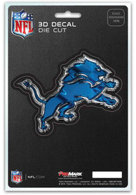 Sports Licensing Solutions Detroit Lions 5x7 inch 3D Auto Decal - Blue