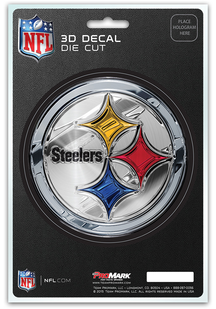 Sports Licensing Solutions Pittsburgh Steelers 5x7 inch 3D Auto Decal - Black
