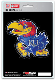 Sports Licensing Solutions Kansas Jayhawks 5x7 inch 3D Auto Decal - Blue